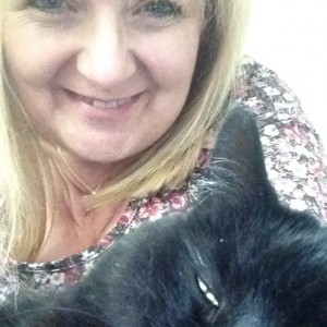 Weekly Lottery runner-up Nicky Bell and one of her cats