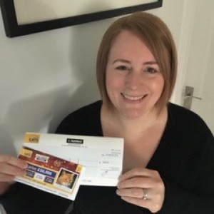 """'I was extremely lucky to have won 3rd prize and would like to thank you so very much!  When I opened the letter and saw the cheque I was ecstatic!"""""""