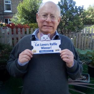 Mr Robinson - £10,000 winner. A huge thank you for my amazing prize. I will continue to support Cats Protection and your vital work.