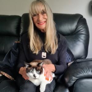 Raffle Runner up Pam and her cat Doughnut